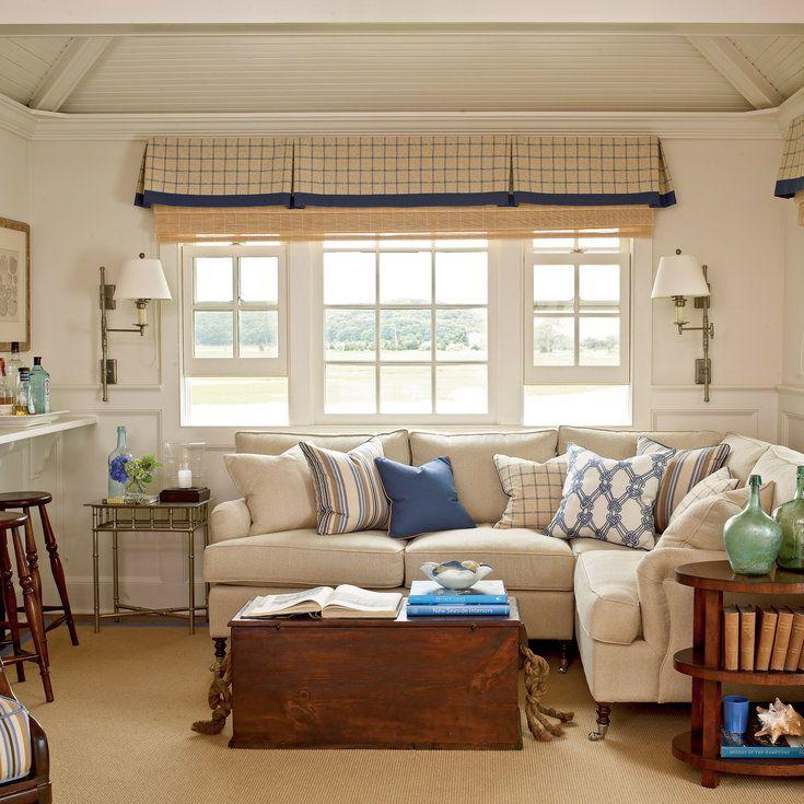 100 Comfy Cottage Rooms: Coastal Living Rooms, Living