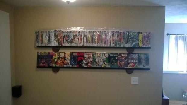 Simple cheap modern comic book display shelf comic book display display shelves and shelves - Comic book display shelves ...