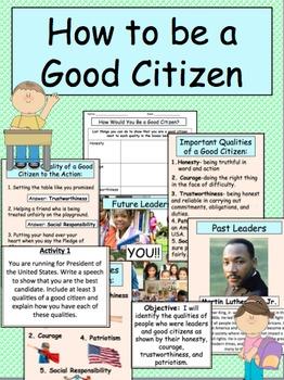 Being a good citizen book