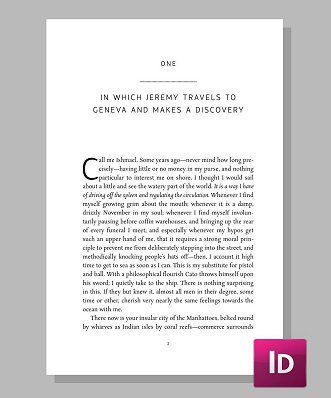 indesign templates for books - balance creates a clean uncluttered look for your