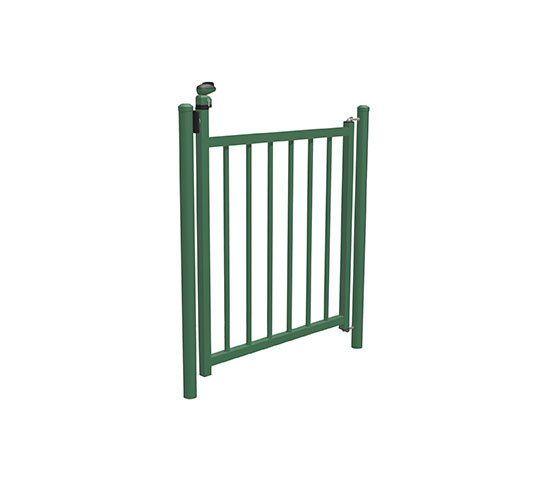 Puertas met licas batientes abatibles barrotes piscina de for Puertas metalicas economicas