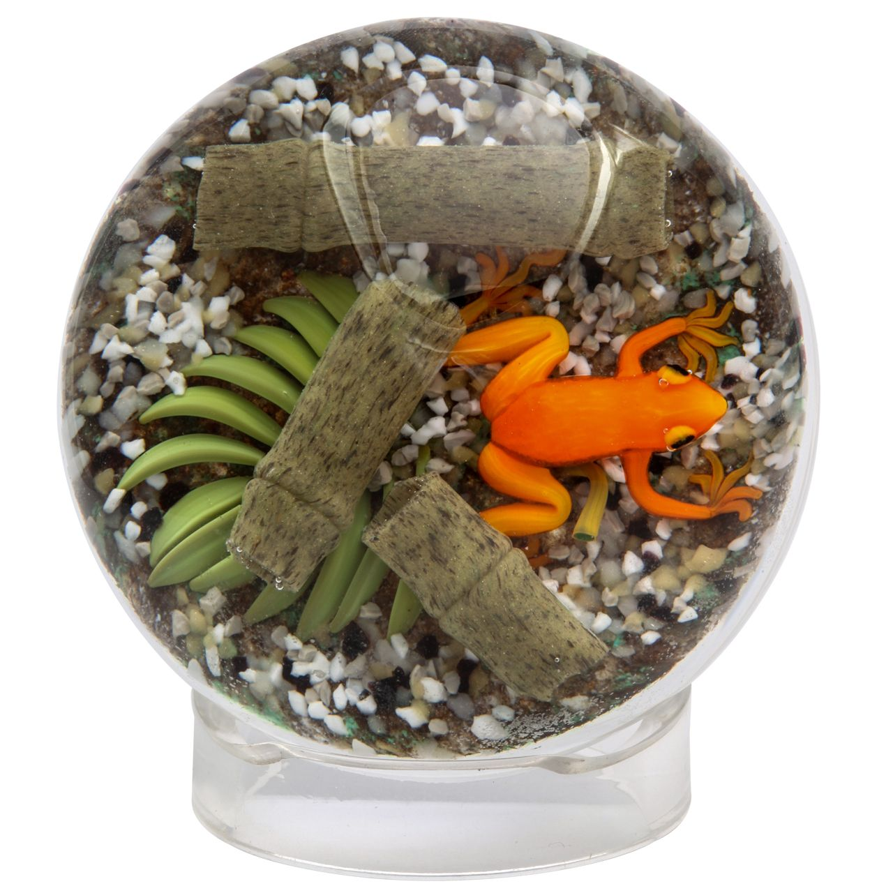 Gordon Smith Orange Tree Frog Paperweight Color Palate