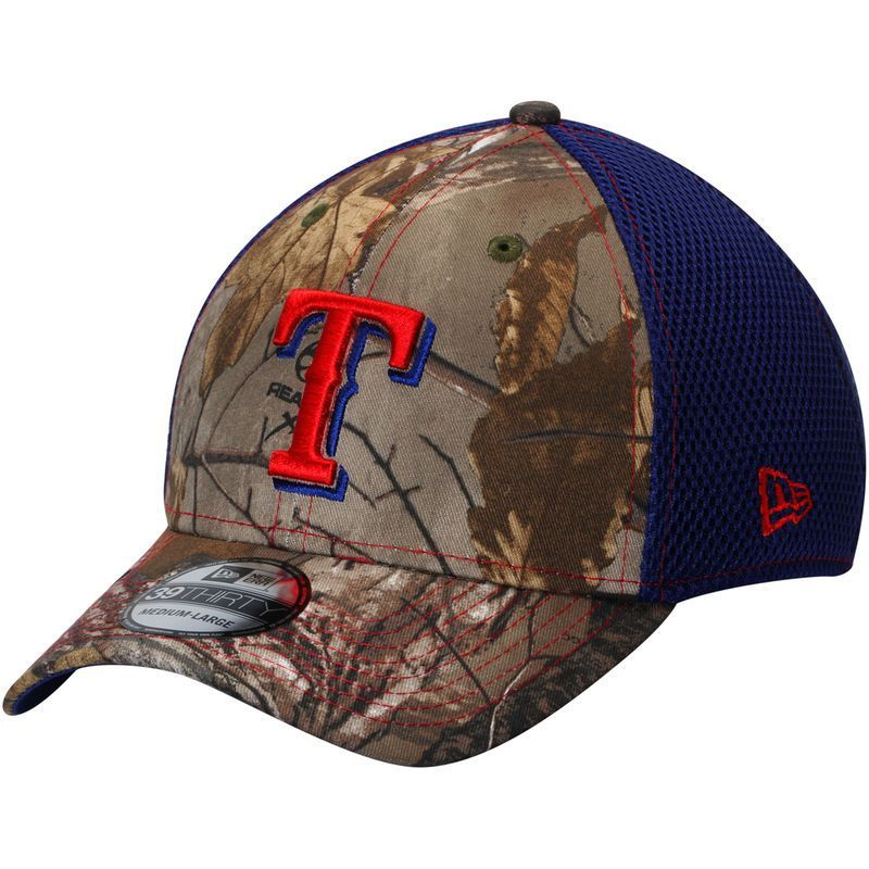 buy popular 41c2e 1ca12 Texas Rangers New Era Neo 39THIRTY Flex Hat - Realtree Camo