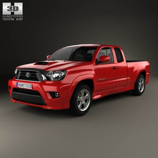 toyota tacoma x runner 2012 3d model from. Black Bedroom Furniture Sets. Home Design Ideas