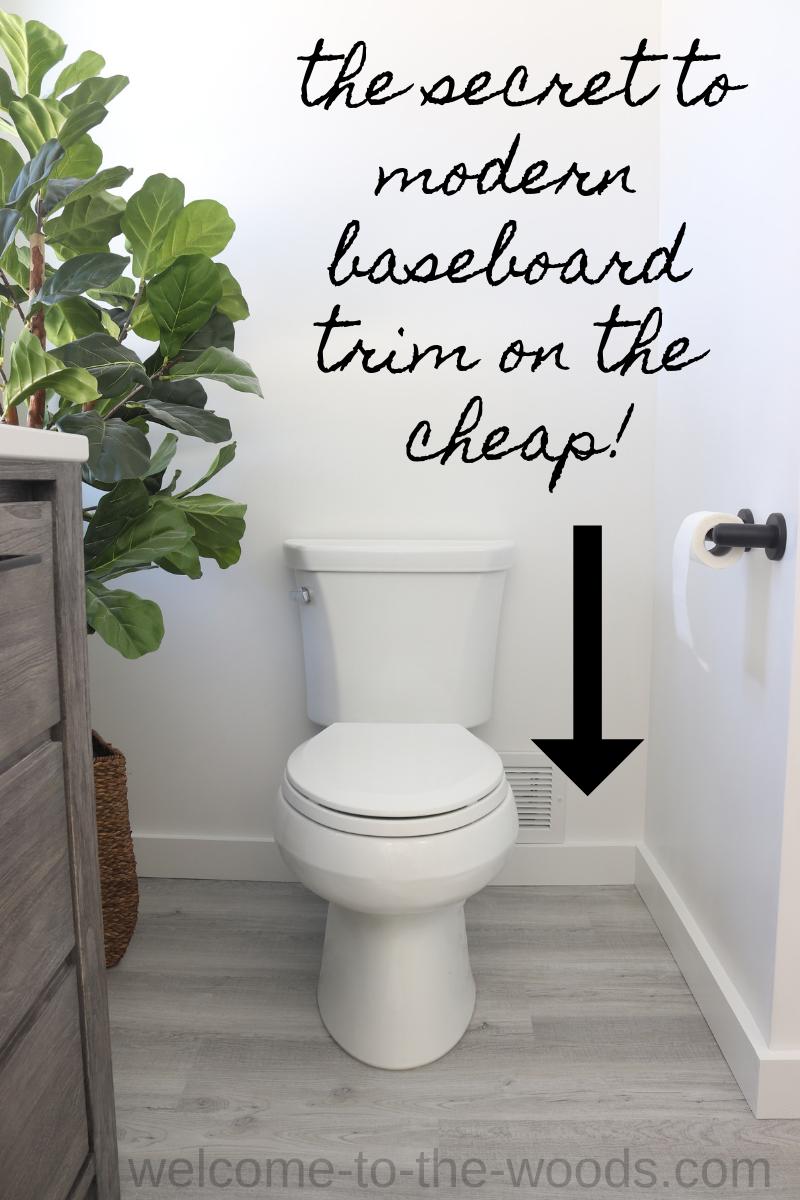 Bathroom Renovation Final Reveal Baseboards Modern Bathroom Renovations Modern Baseboards
