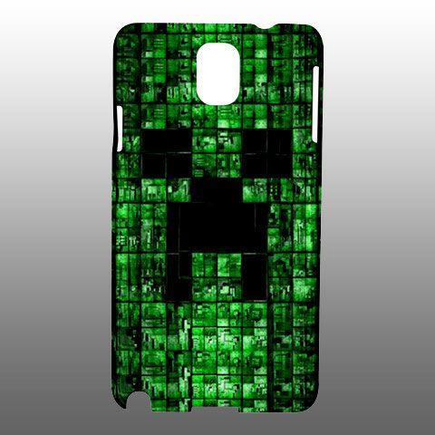 Custom Minecraft Creeper Samsung Galaxy Note 3 Case Cover