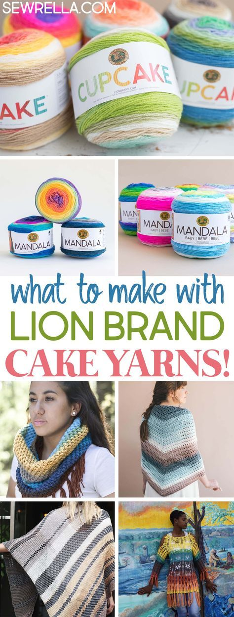 Knit And Crochet Patterns With Lion Brand Cake Yarns Crochet