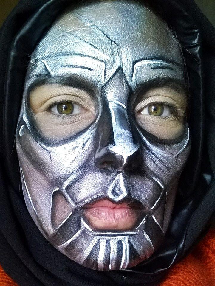 mascara #hierro #maquillaje #plateado #fantasía #artístico ...