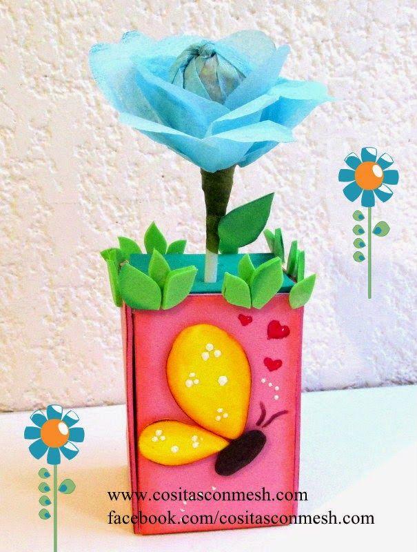 Regalos una flor para el d a de la madre manualidades - Regalos para el dia de la madre manualidades ...