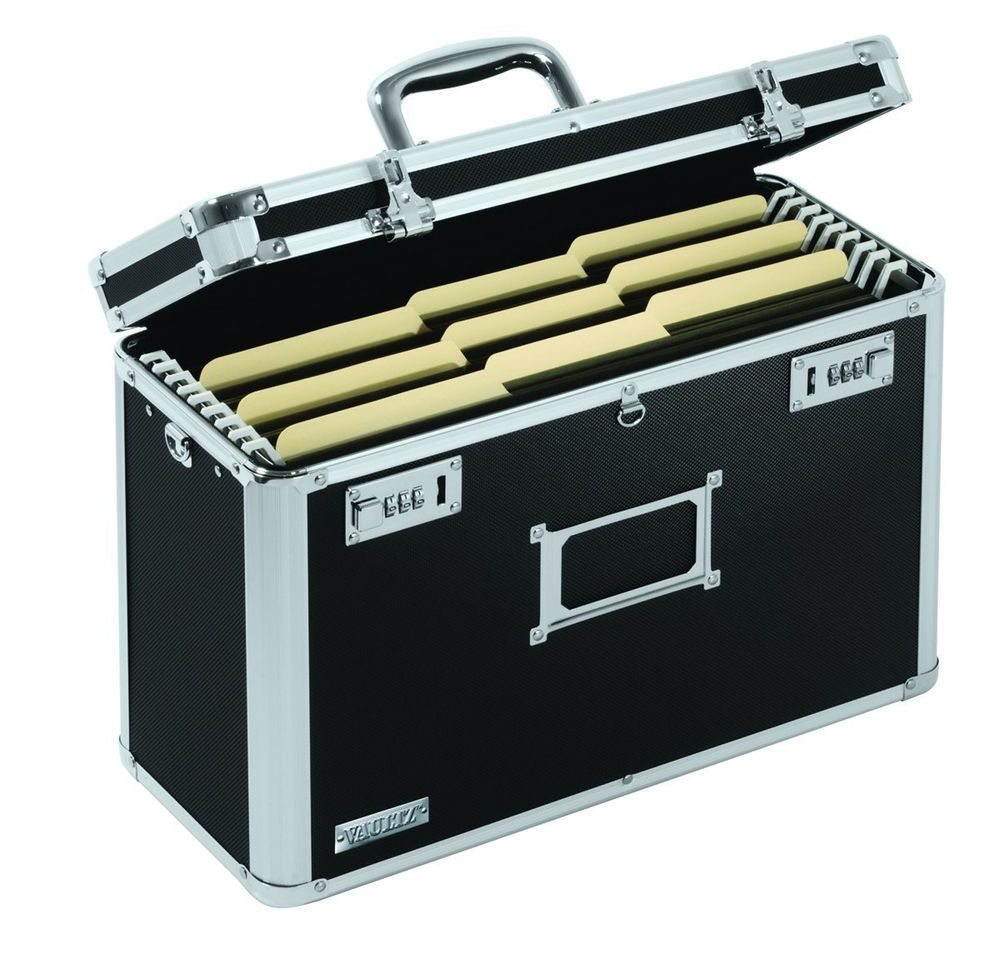 Locking file box security lock safe home office storage for Secure document storage box