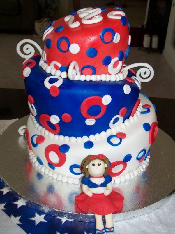 Patriotic Fondant Cake