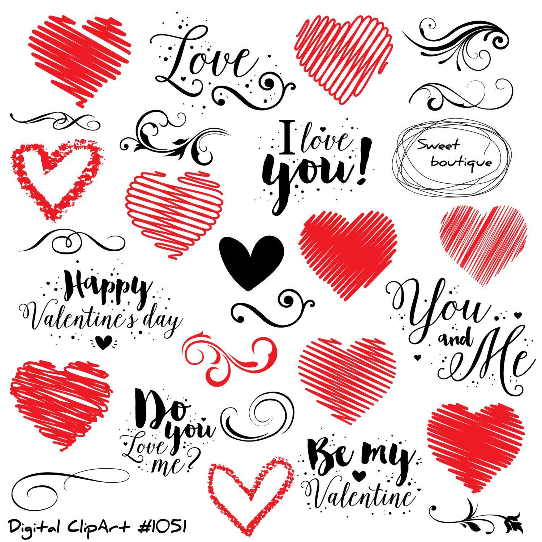 Heart Clip Art Commercial Use Digital paper Heart love Wedding PNG Digital Scrapbooking Sale Heart Clipart Valentine Clip Art