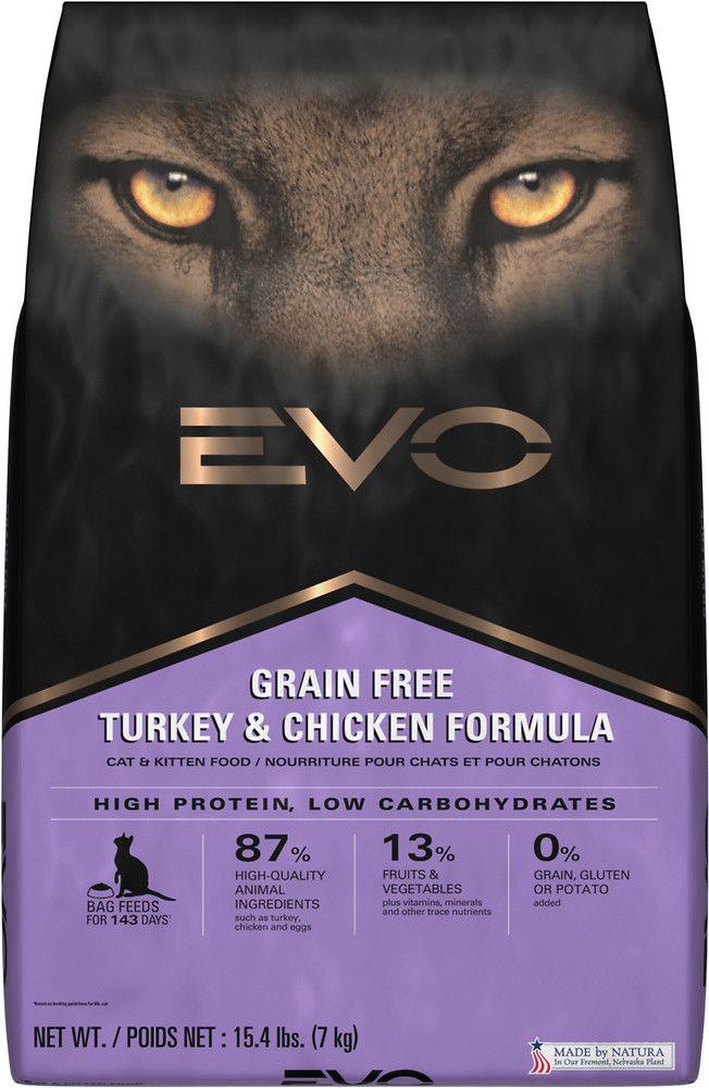 Evo Turkey Chicken Cat Kitten Formula Dry Cat Food 15 4 Lb