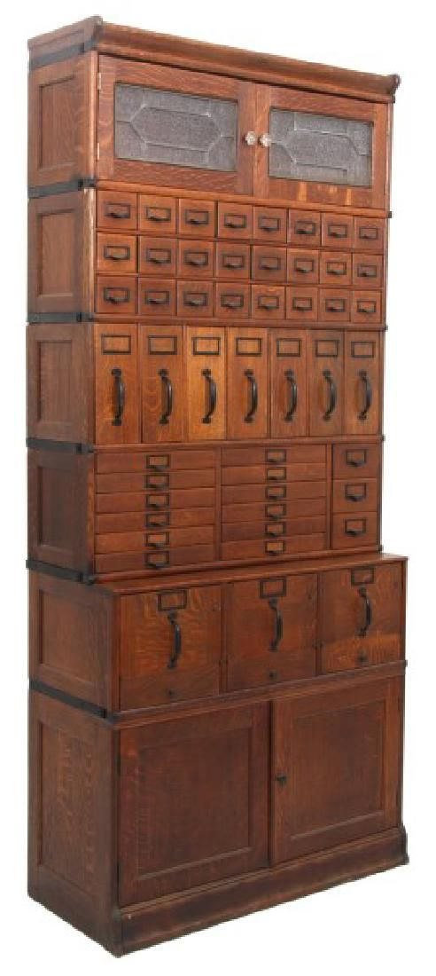 Lot Oak Globe Wernicke Sectional Stacking File Cabinet Number 0152 Starting Bid 600 Auctioneer Fontaine S Auction Gallery Antiques