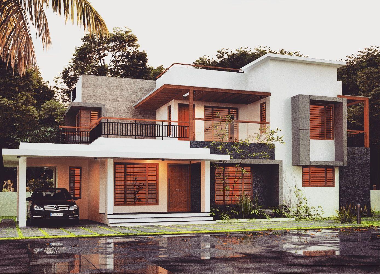 4 bedroom house plans 2100 sq ft two floor kerala