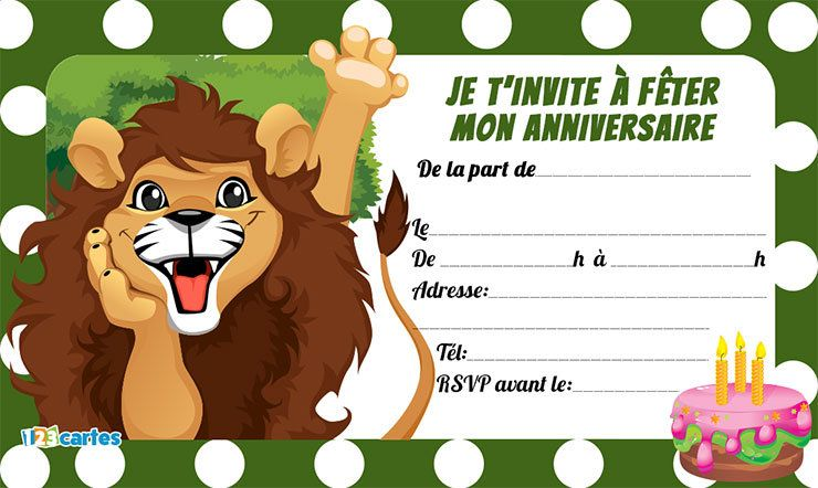 Animaux cartes et invitations gratuites 123 cartes invitations cartes invitation - Images animaux gratuites ...
