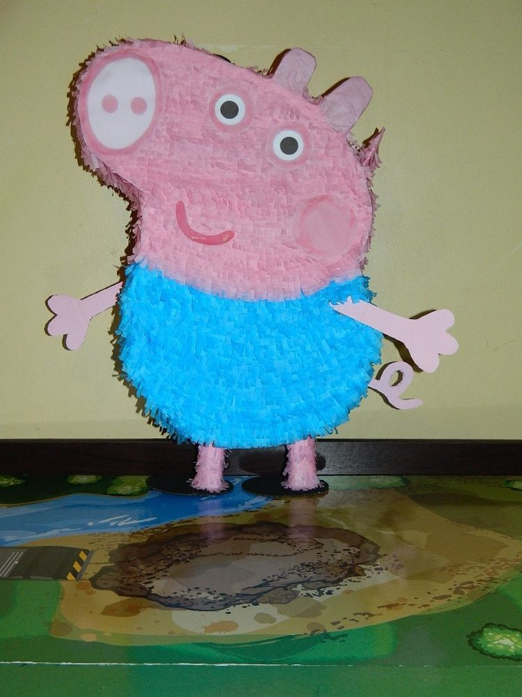 George Pig Party Pinata from Peppa pig : we could get this one since it's a boy :)