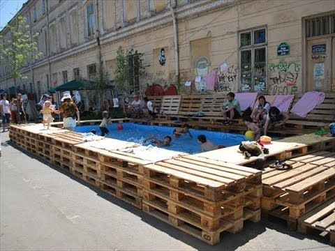Image Result For Pallet Deck Around Above Ground Pool With Images