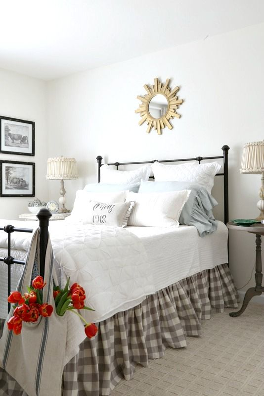 Savvy southern style the new french farmhouse guest room for French farmhouse bed
