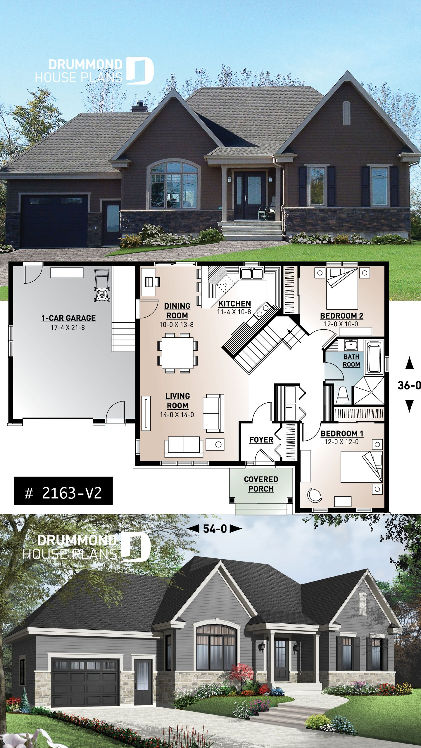 Discover The Plan 2163 V2 Springbrook 3 Which Will Please You For Its 2 Bedrooms And For Its Craftsman Northwest Styles Ranch Style House Plans Rustic House Plans Country House Plans