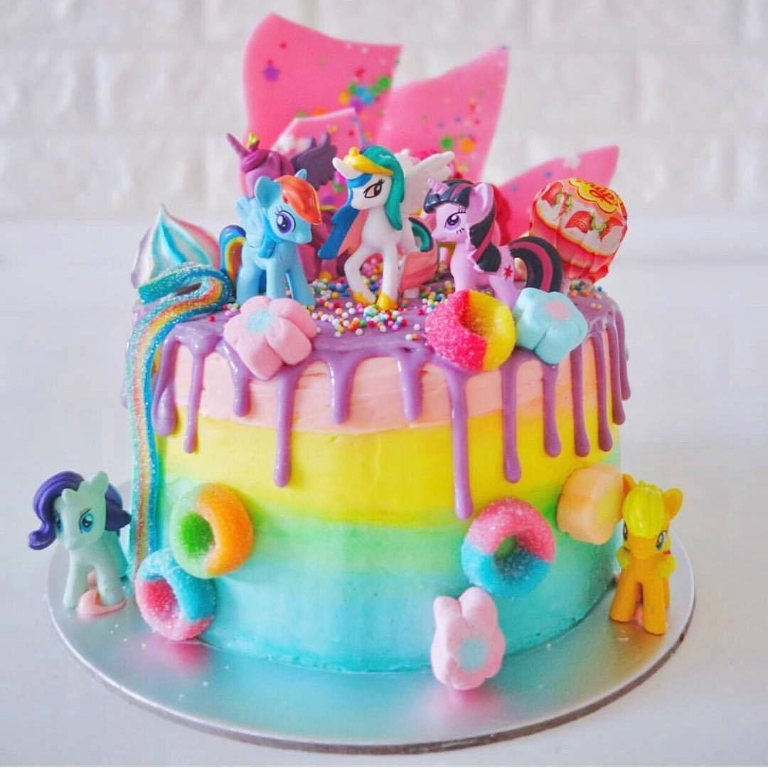 Riverashbakery Pony Cake Birthday Cake Kids Candyland Cake