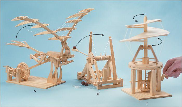 Da Vinci Model Kits Da Vinci Inventions Gifts Wood Toys