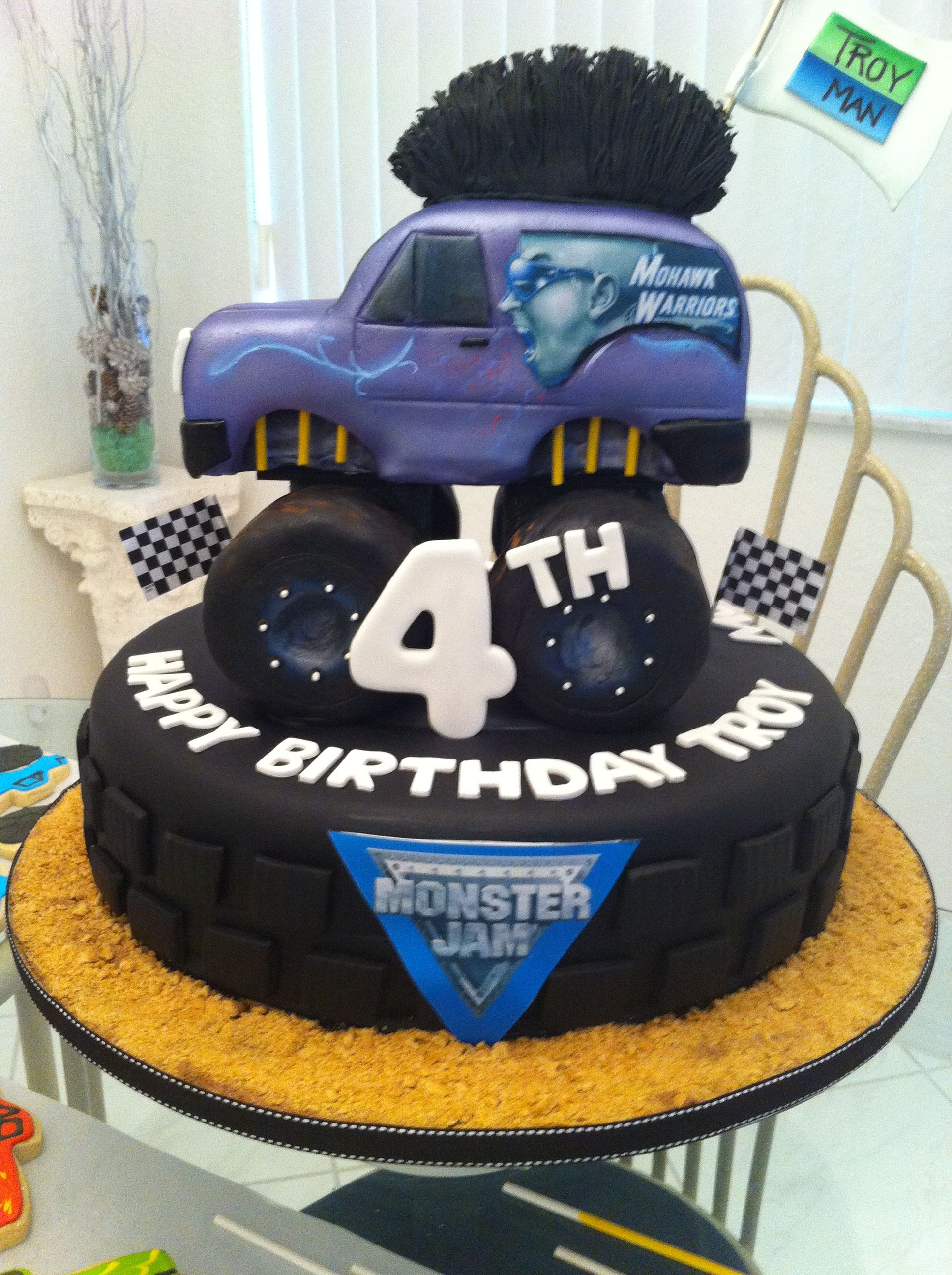 monster jam - This was for my grandsons 4th birthday. He had just gone to the monster jam show and loved it and mohwalk warrior was his favorite.