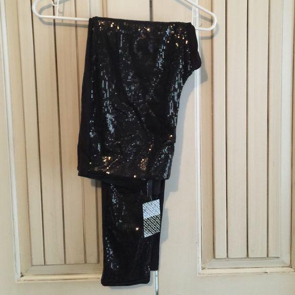 H&M sequin leggings Black H&M Pants Leggings