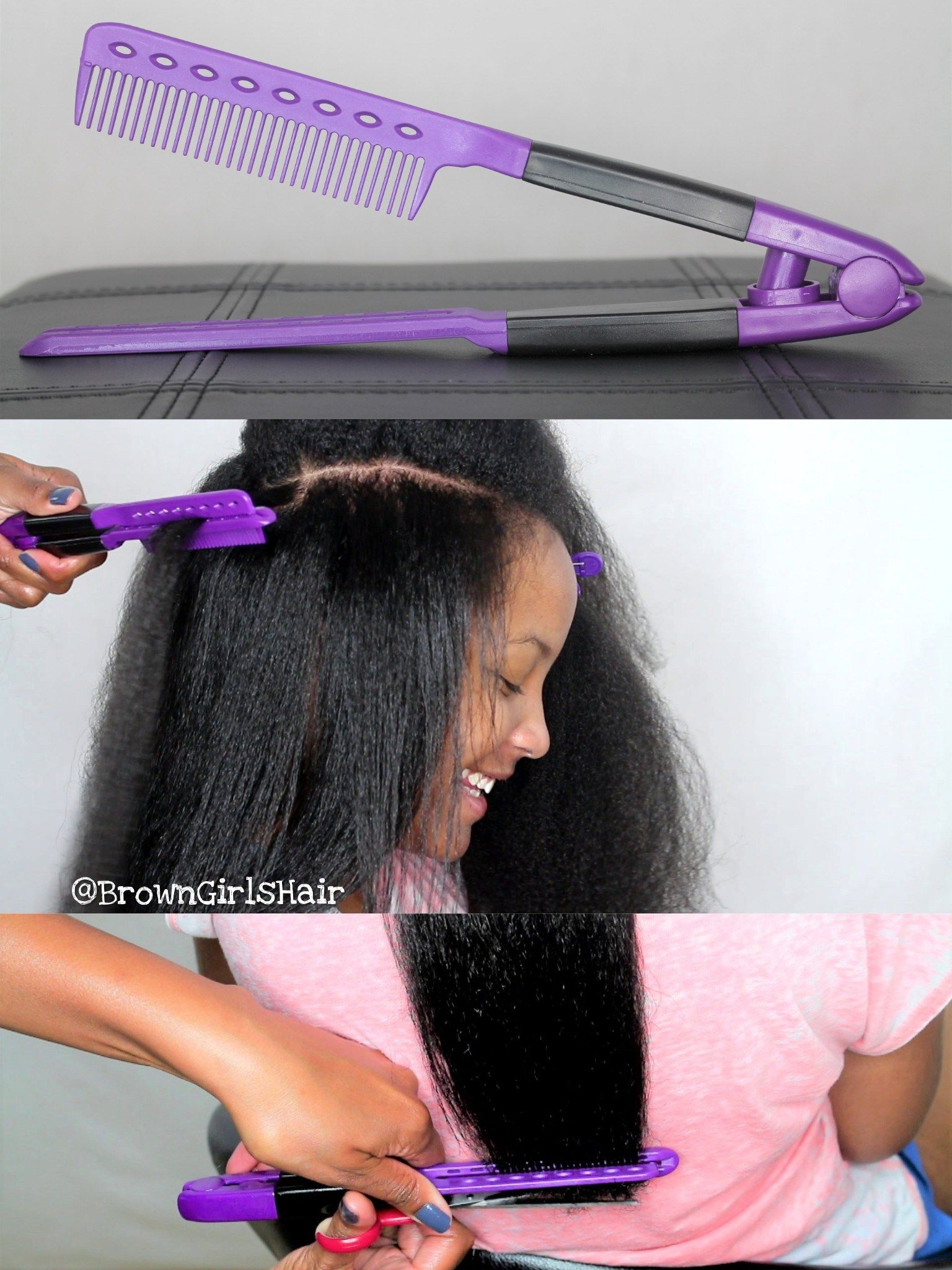 straightening v shaped comb product review for natural