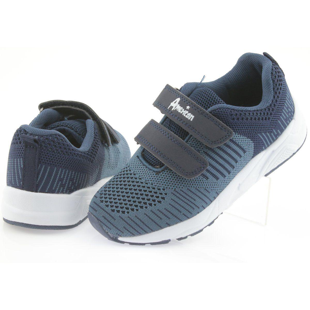 American Club Buty Sportowe Na Rzepy American Ca05 Granatowe Sports Shoes Kid Shoes Shoes