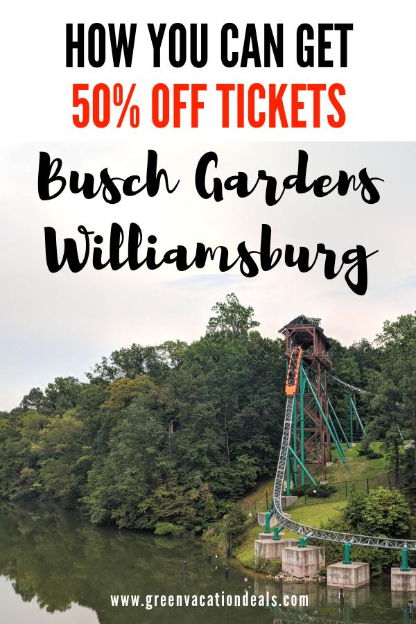 Best Deals On Busch Gardens Williamsburg Tickets