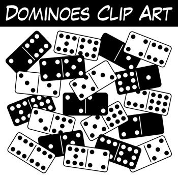 Free Dominoes Clipart! This full double-nine domino clipart set ...