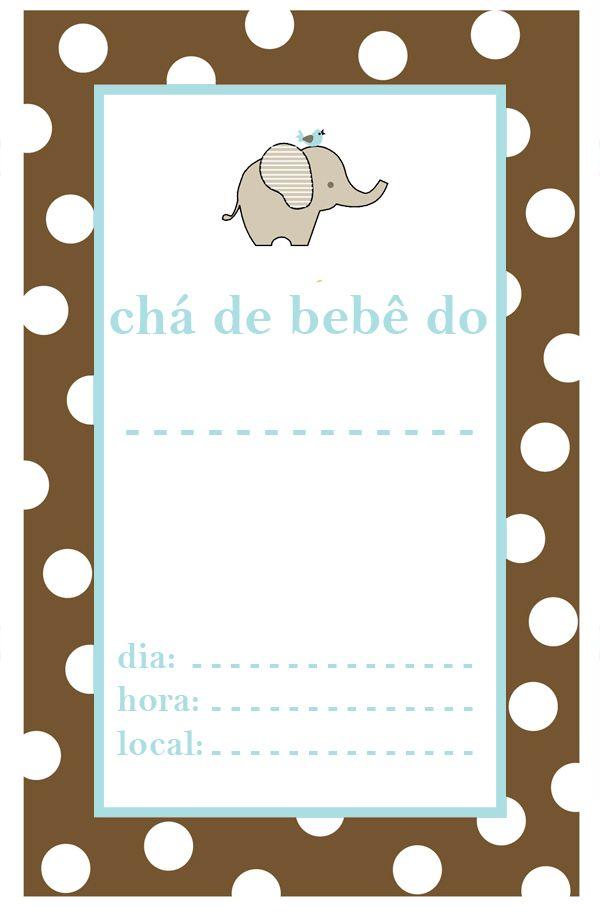Convite Chá De Bebê Menino Para Imprimir Duda Baby Baby Shower