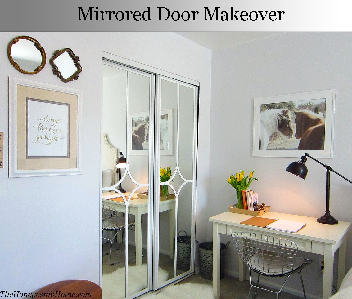 Mirrored closet door makeover | Door makeover, Doors and Bedrooms