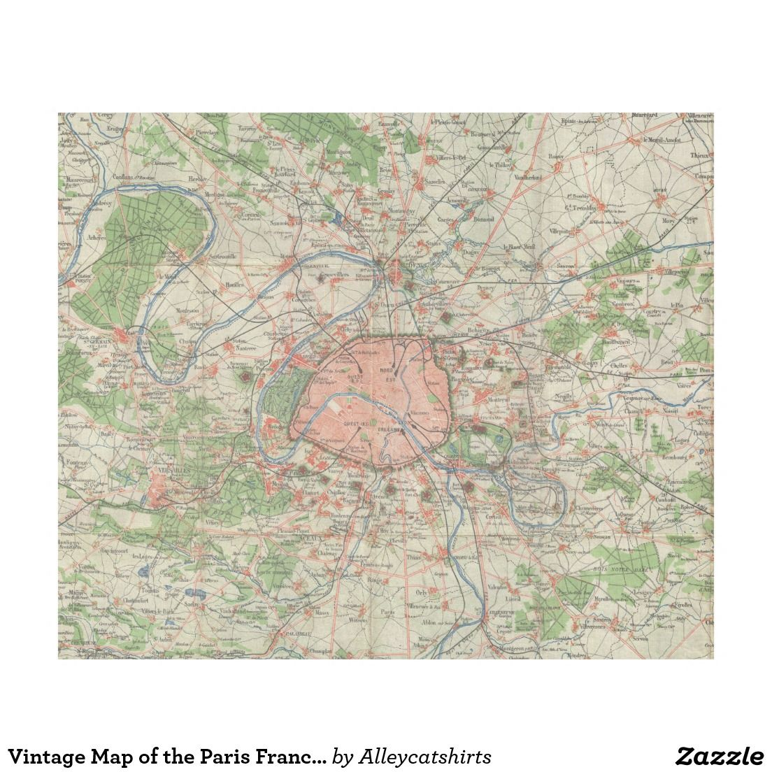 Vintage map of the paris france vicinity 1870 fleece blanket vintage map of the paris france vicinity 1870 fleece blanket gumiabroncs Image collections