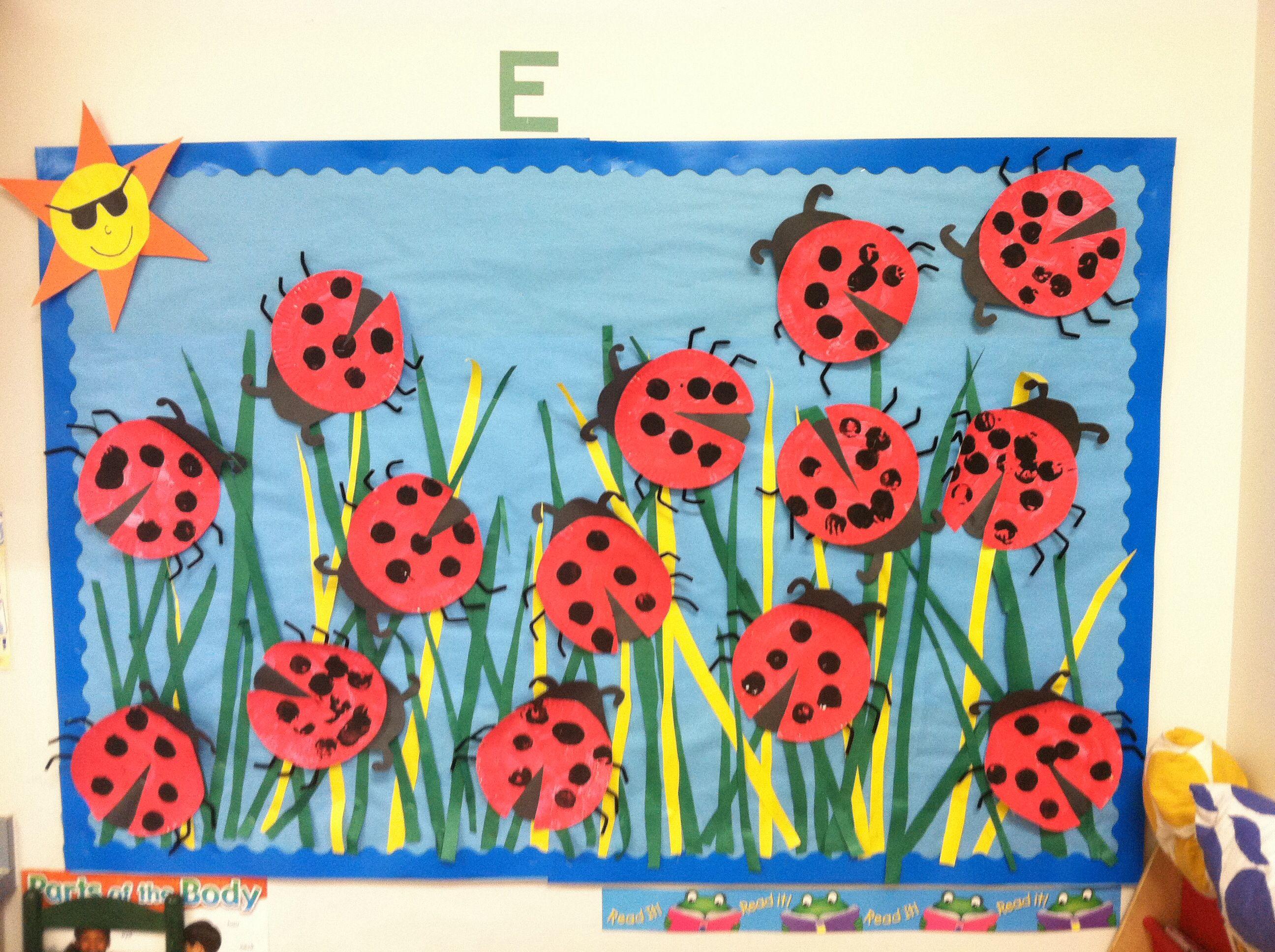 Ladybug Classroom Decoration Ideas : Ladybug art spring bulletin board preschool craft threes
