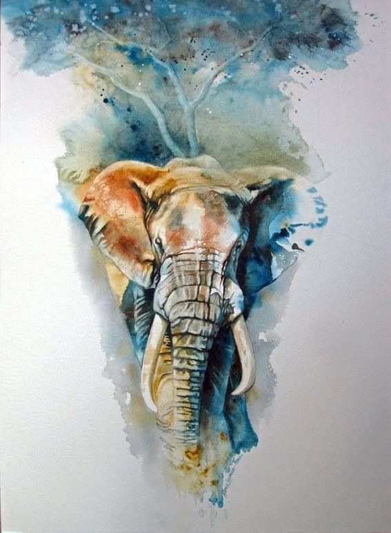 Karen Laurence Rowe Watercolor Pinturas De Animais Animais De