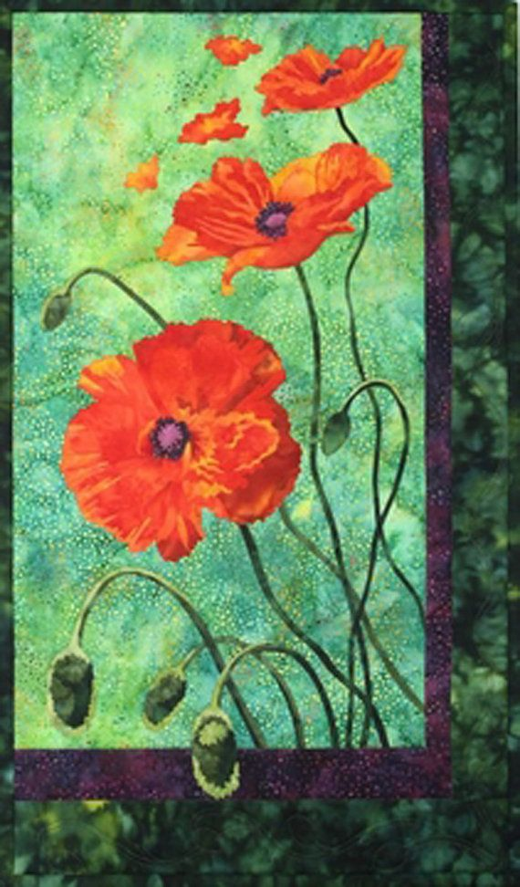 Toni Whitney Designs Quilt Kit Poppies By Undercoverquilts On Etsy 54 95 With Images Poppy Art Landscape Quilts Applique Quilt Patterns