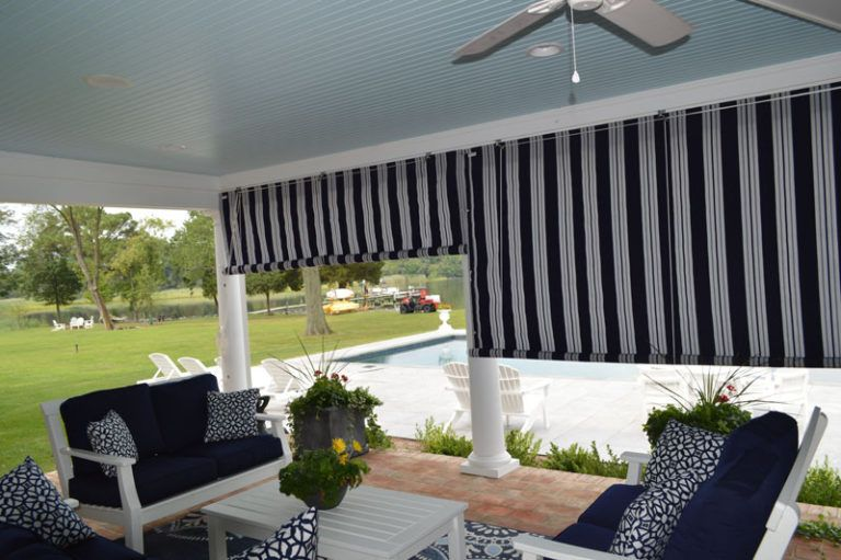 Canvas Porch Roller Curtains Privacy Shade Protection Sunbrella Outdoor Shades For Porch Patio Curtains Porch Shades
