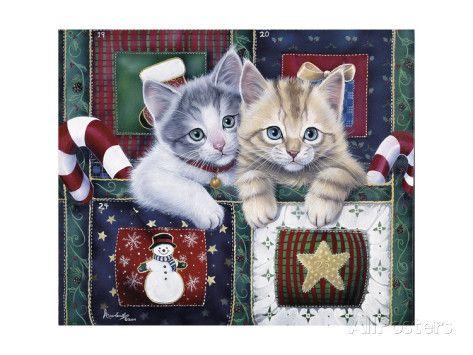Christmas Calendar Kittens Giclee-vedos tekijänä Jenny Newland AllPosters.fi-sivustossa