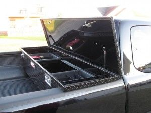 Black Low Profile Truck Tool Box Trucks Modification Truck Tool Box Black Truck Tool Box Truck Diy