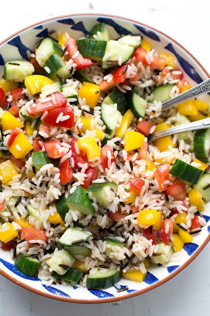 Vegetarischer Reissalat - schnell und super lecker - Kochkarussell #vegetariangrilling