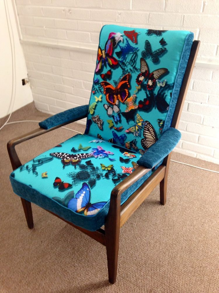 Details About Danish Style 1960 Newly Reupholstered Cintique Retro