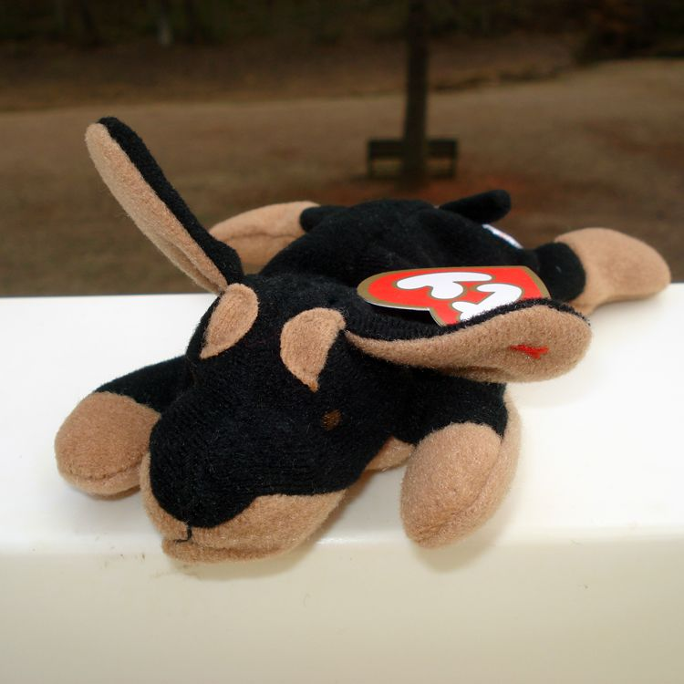bd0c31c0f29 1998 McDonald s Teenie Beanie Baby  1 Doby the Doberman (Sealed ...