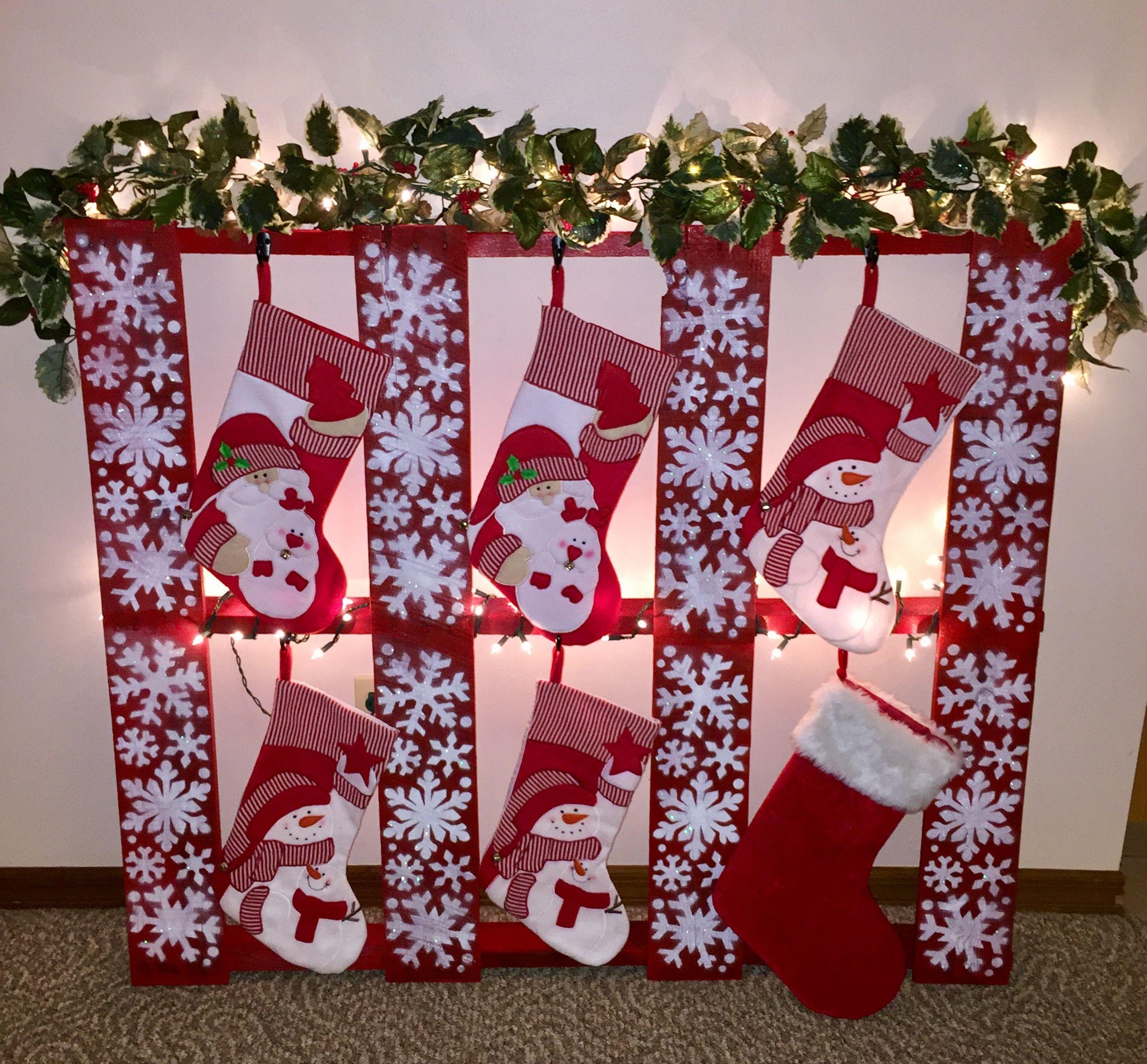 Christmas Stocking Holder Pallet Stocking Holder Stocking Display