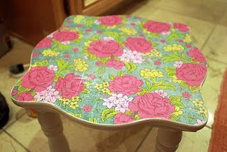 How to Mod Podge laminate furniture Crafts Pinterest Laminate