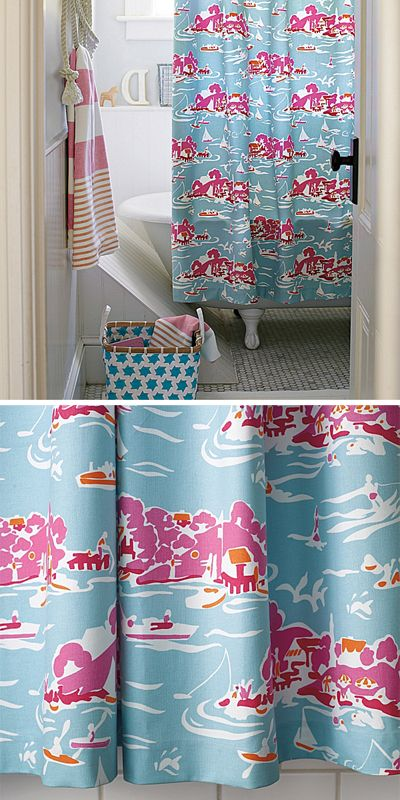 Serena And Lily Skylake Toile Shower Curtain With Images Cute