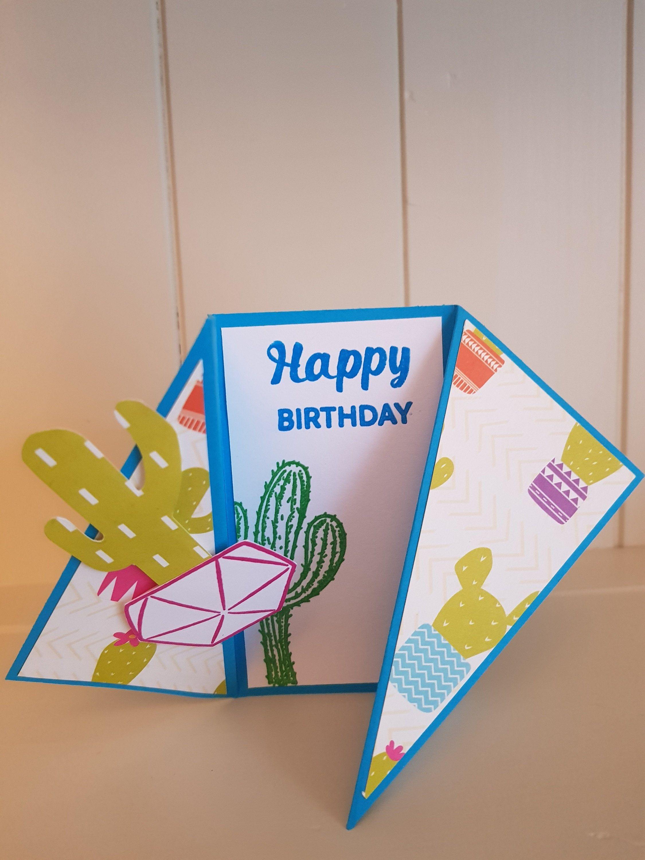 Https Www Etsy Com Uk Listing 729201142 Happy Birthday Card Cactus Happy Birthday Cards Birthday Cards Unique Birthday Cards