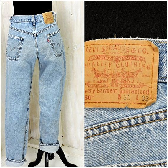 f64a9f88 Vintage Levis 550 31 X 32 / LEVI'S high waisted straight jeans / Levi  Strauss 550s relaxed fit mens jeans / womens boyfriend jeans