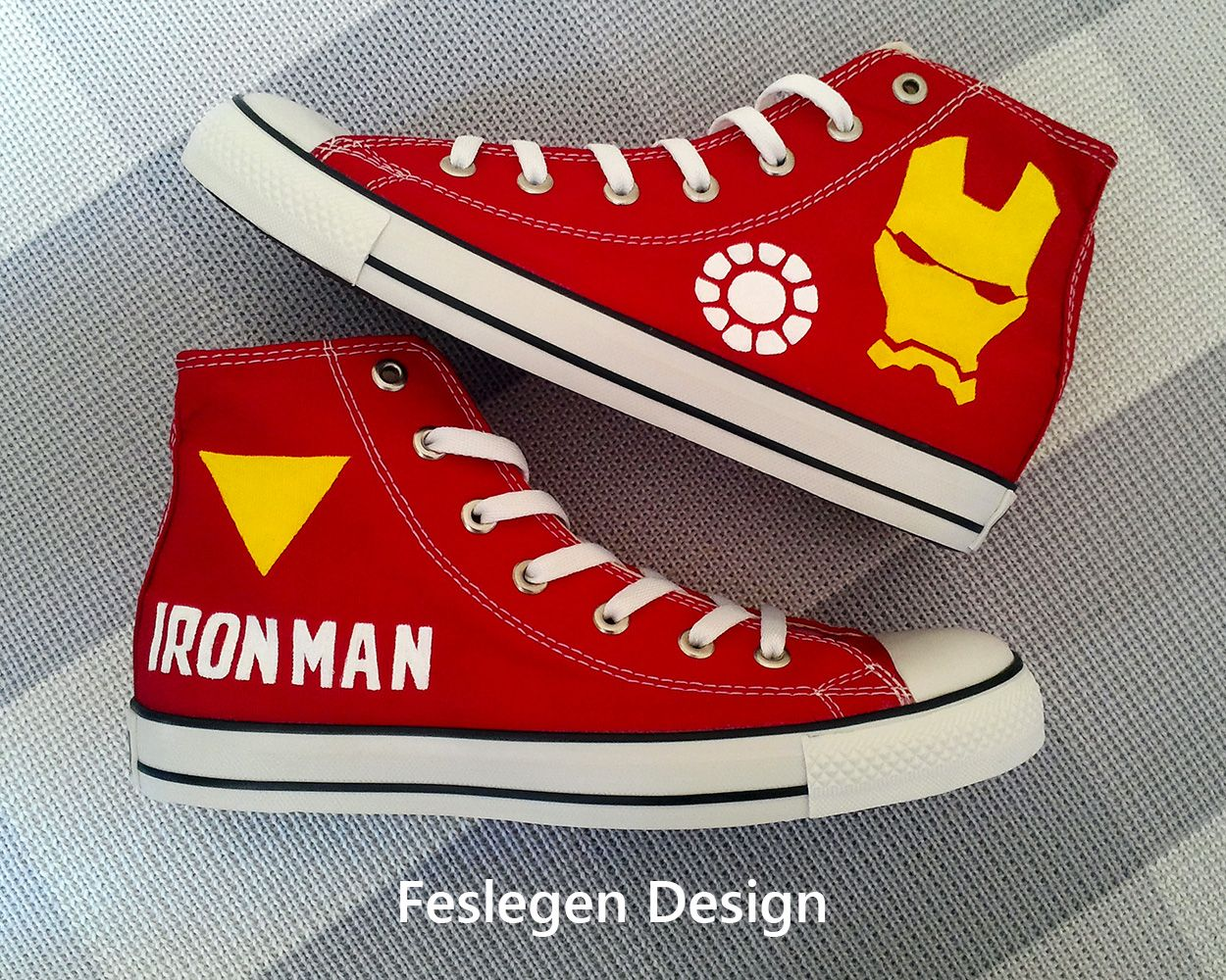 convese shoes with artwork | The Best Iron Man Themed Custom